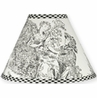 Black French Toile Lamp Shade