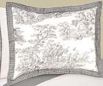 Black French Toile Pillow Sham