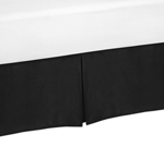 Black Queen Bed Skirt for Black and White Trellis Bedding Sets