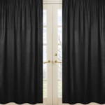 JoJo Designs Black Window Treatment Panels for Black and ...