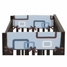 Blue and Brown Geo Baby Crib Side Rail Guard Covers by Sweet Jojo Designs - Set of 2