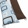 Blue and Brown Geo Full Length Double Zippered Body Pillow Case Cover by Sweet Jojo Designs