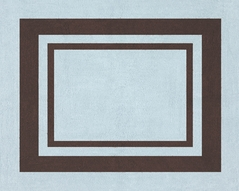 Blue and Brown Hotel Accent Floor Rug