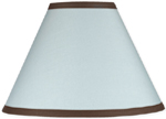 Blue and Brown Hotel Lamp Shade by Sweet Jojo Designs