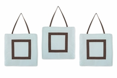 Blue and Brown Hotel Wall Hanging Accessories by Sweet Jojo Designs