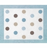 Blue and Brown Mod Dots Accent Floor Rug