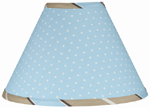 Blue and Brown Mod Dots Lamp Shade by Sweet Jojo Designs