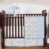 Blue and Gray Avery Baby Bedding - 11pc Crib Set by Sweet Jojo Designs