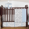 Blue and Gray Avery Baby Bedding - 4pc Crib Set by Sweet Jojo Designs