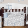 Blue and Gray Avery Baby Bedding - 9pc Crib Set by Sweet Jojo Designs