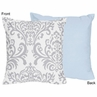 Blue and Gray Avery Decorative Accent Throw Pillow by Sweet Jojo Designs