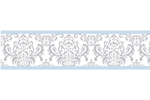 Blue and Gray Avery Kids and Baby Modern Wall Paper Border by Sweet Jojo Designs