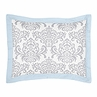 Blue and Gray Avery Pillow Sham by Sweet Jojo Designs