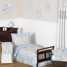 Blue and Gray Avery Toddler Bedding - 5pc Set by Sweet Jojo Designs