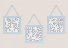 Blue and Gray Avery Wall Hanging Accessories by Sweet Jojo Designs