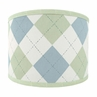 Blue and Green Argyle Lamp Shade by Sweet Jojo Designs