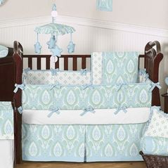 Blue and Green Caden Baby Bedding - 9 pc Crib Set by Sweet Jojo Designs