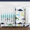Blue and Green Mod Dinosaur Baby Boy or Girl Bedding - 11pc Crib Set by Sweet Jojo Designs