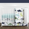 Blue and Green Mod Dinosaur Baby Boy or Girl Bedding - 4pc Crib Set by Sweet Jojo Designs