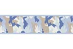 Blue and Khaki Camo Army Camouflage Baby and Kids Wall Paper Border by Sweet Jojo Designs