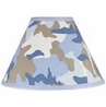 Blue and Khaki Camo Army Military Camouflage Lamp Shade by Sweet Jojo Designs