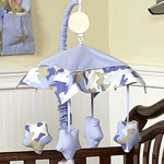 Blue and Khaki Camo Military Army Camouflage Musical Crib Mobile by Sweet Jojo Designs