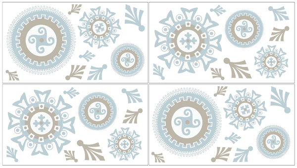 JoJo Designs Blue and Taupe Hayden Baby, Childrens and Ki...