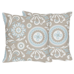 Blue and Taupe Hayden Decorative Accent Throw Pillows by ...