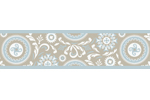 Blue and Taupe Hayden Kids and Baby Modern Wall Paper Border by Sweet Jojo Designs