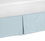 Blue and Taupe Hayden Queen Bed Skirt for Childrens Teen Bedding Sets by Sweet Jojo Designs