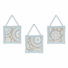 Blue and Taupe Hayden Wall Hanging Accessories by Sweet Jojo Designs