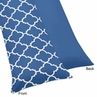 Blue and White Trellis Full Length Double Zippered Body Pillow Case Cover