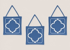Blue and White Trellis Wall Hanging Accessories by Sweet Jojo Designs