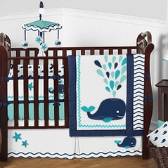 Blue Whale - 9 Piece Baby Boy Bedding Crib Set by Sweet Jojo Designs