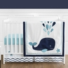 Blue Whale Baby Boy or Girl Bedding - 4pc Crib Set by Sweet Jojo Designs