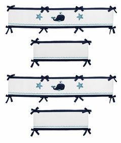 Blue Whale Baby Crib Bumper Pad by Sweet Jojo Designs