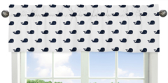 Blue Whale Collection Window Valance by Sweet Jojo Designs