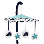 Blue Whale Musical Baby Crib Mobile by Sweet Jojo Designs