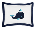 Blue Whale Pillow Sham by Sweet Jojo Designs