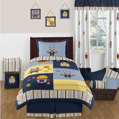 Modern Robot 3pc Full / Queen Bedding Set Collection
