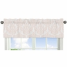 Blush Pink and White Damask Window Valance for Amelia Collection by Sweet Jojo Designs
