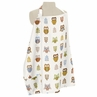 Brown and Blue Owl Infant Baby Breastfeeding Nursing Cover Up Apron by Sweet Jojo Designs