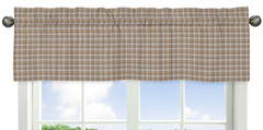 Brown Plaid Window Valance for All Star Sports Collection by Sweet Jojo Designs