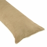 Camel Microsuede Full Length Double Zippered Body Pillow Cover