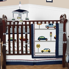 Car Baby Bedding - 9 pc Crib Set by Sweet Jojo Designs