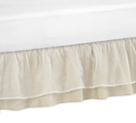 JoJo Designs Champagne and Ivory Victoria Bed Skirt for T...