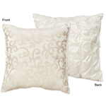Champagne and Ivory Victoria Decorative Accent Throw Pillow by Sweet Jojo Designs