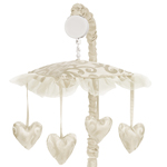 Champagne and Ivory Victoria Musical Baby Crib Mobile by Sweet Jojo Designs