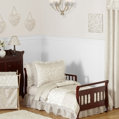 Champagne and Ivory Victoria Toddler Bedding - 5pc Set by Sweet Jojo Designs