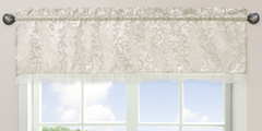 Champagne and Ivory Victoria Window Valance by Sweet Jojo Designs